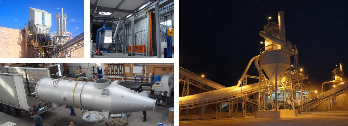 Entstaubungsanlagen für die Aufbereitungs-Industrie