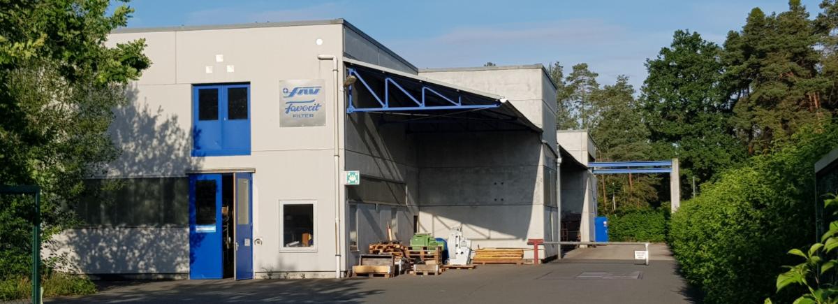 Nahaufnahme unseres Firmengebäudes in Schwabach